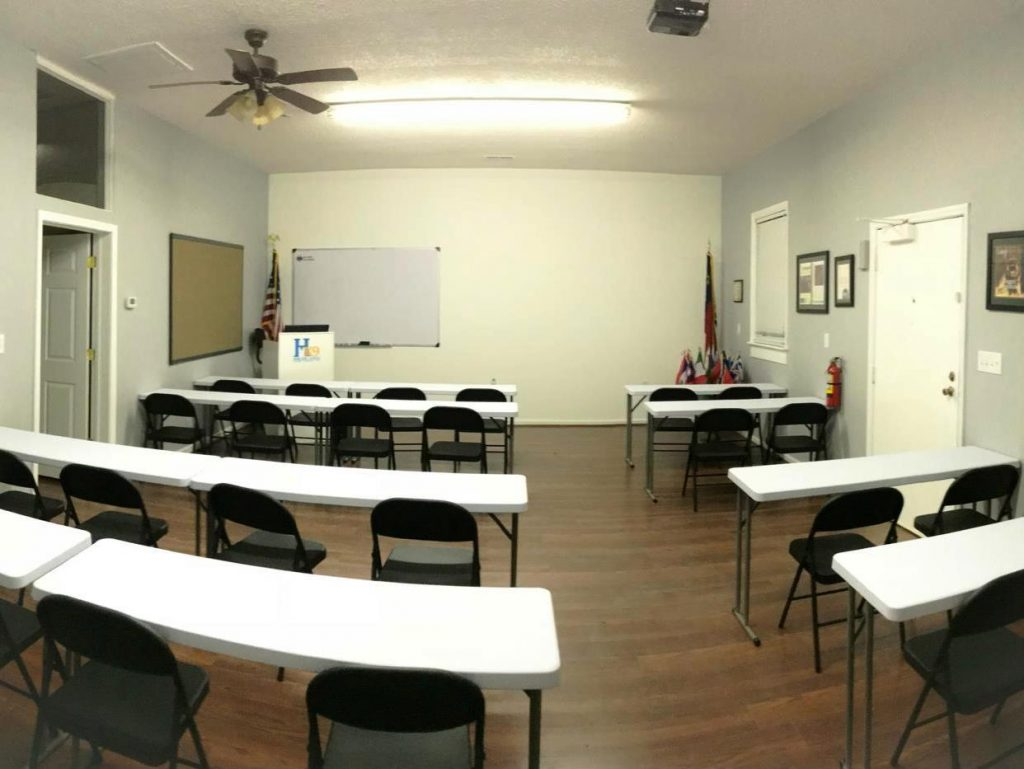 classroom school for dog trainers