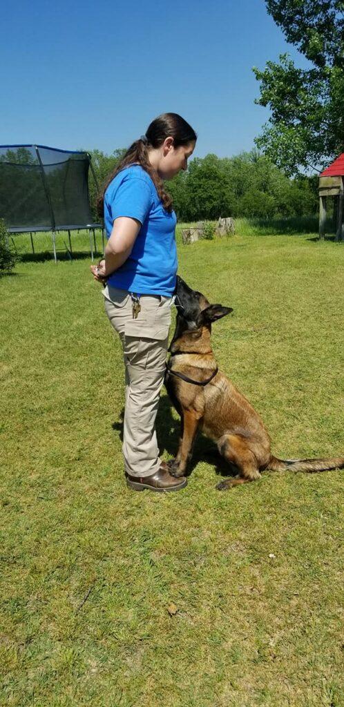 savanna raymond doing obedience with nadia