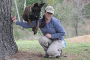 savanna raymond with rescue dog nadia